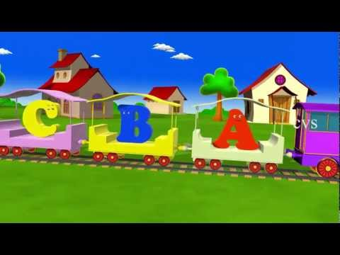 Alphabet Train rhyme - 3D Animation ABCD Train rhyme for children | PopScreen