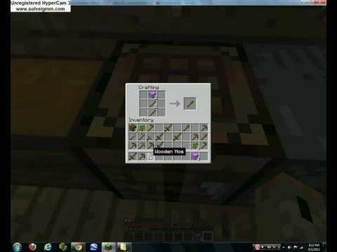 How to make wood axe, hoe, shovel, and sword!   PopScreen