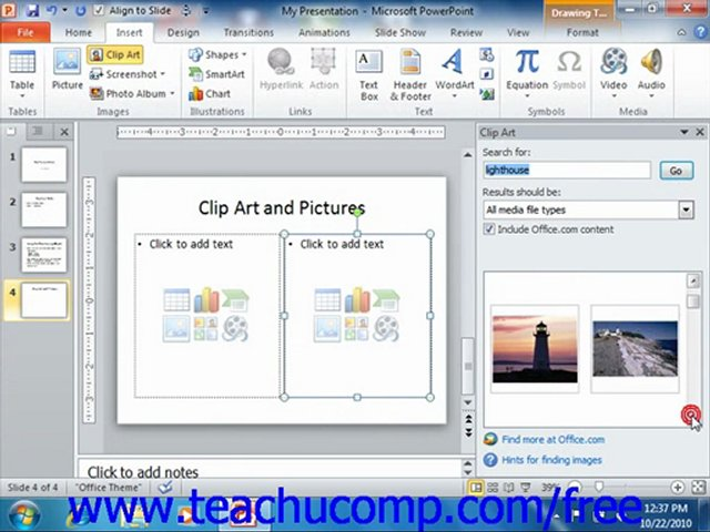 Clipart On Powerpoint 2010