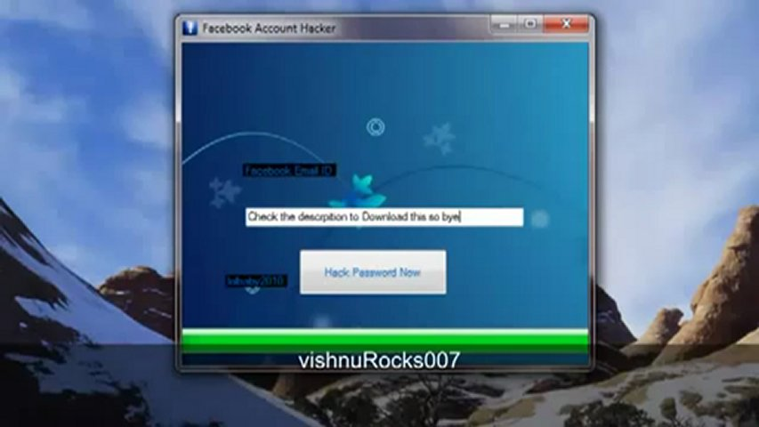 Facebook account hacker hack april may 2012 fixed update free download