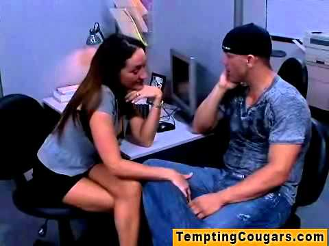 Frisky milf cougar tempting a fellow into poontang | PopScreen
