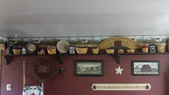 Country Wall Shelf Decorating Ideas