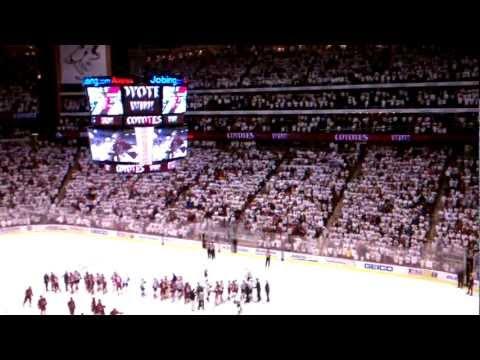 Phoenix Coyotes Western Conference Semi-Finals series handshake (5/7/2012) | PopScreen