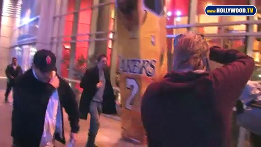 EXCLUSIVE: Lukas Haas Enters the Staples Center | PopScreen