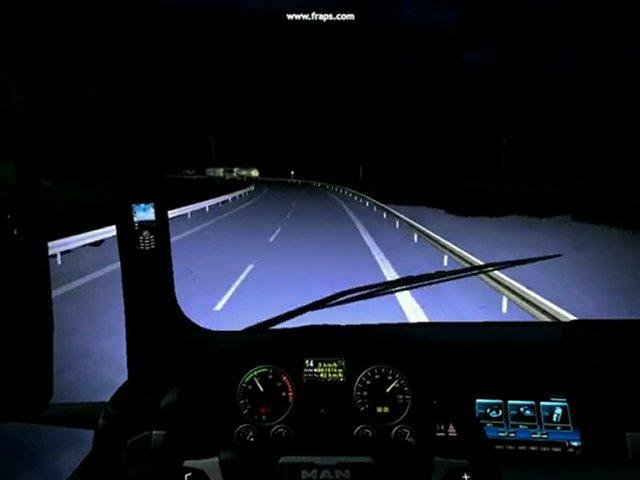 GTS.Man tgx gece sürüşü yağmurlu hava | PopScreen