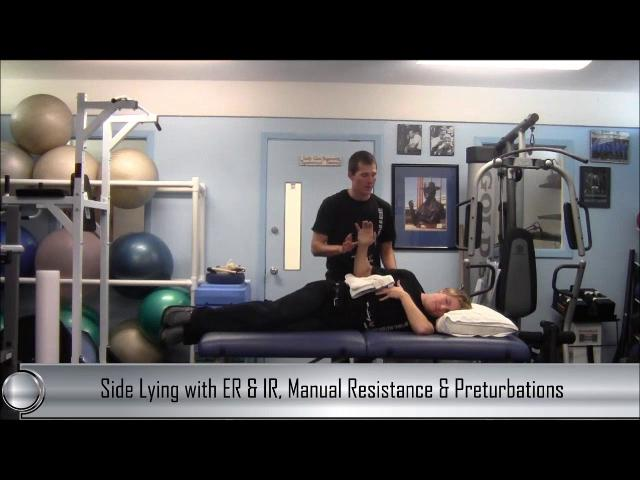 Dryland Tip: Side Lying External Rotation with Manual Resistance and Perturbations