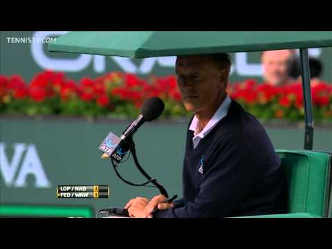 ATP Doubles 2011 Indian Wells SF Nadal/Lopez vs Federer/Wawrinka ENG | PopScreen