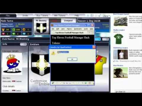 Top Eleven Football Manager Cheat Hack Token And Cash Adder | Cerita