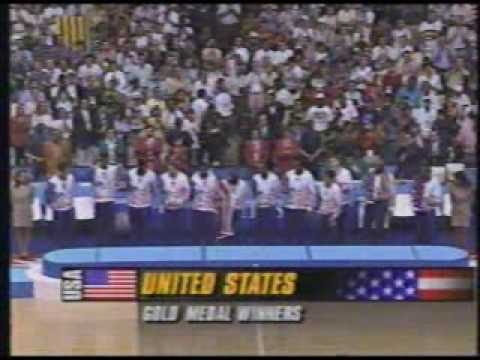 1992 Barcelona Olympics - Mens Basketball Medal Award Ceremony (Part 1) | PopScreen
