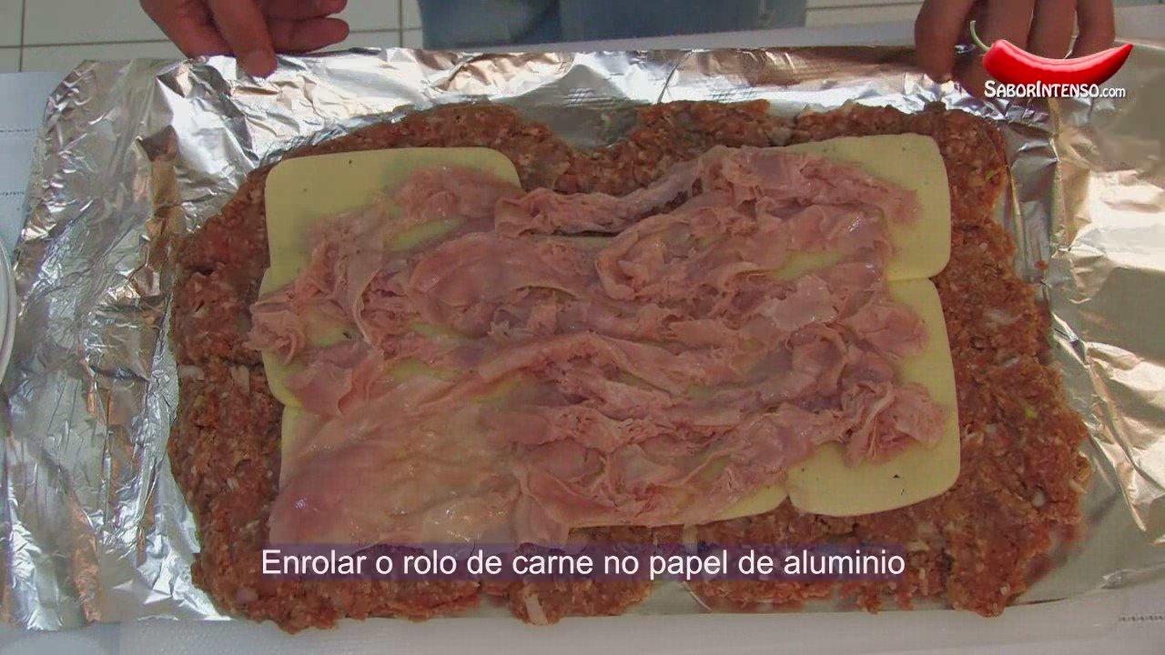 Rolo de Carne Picada Recheado | PopScreen
