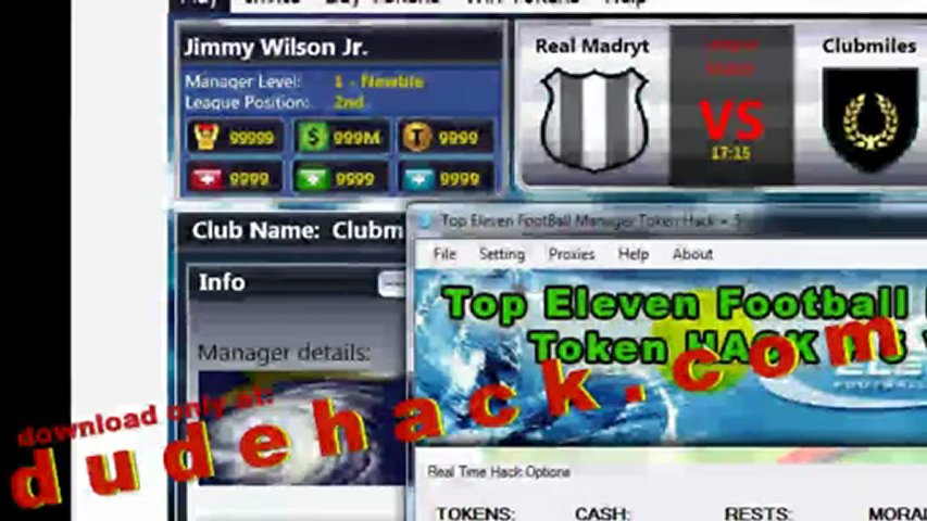 Top Eleven Football Manager Free Tokens 2012 (Top Eleven Token Hack V.1.02) | PopScreen