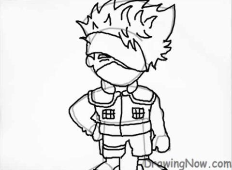 How to Draw Chibi Kakashi from Naruto | PopScreen
