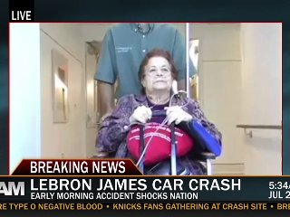 LeBron James Car Crash | PopScreen