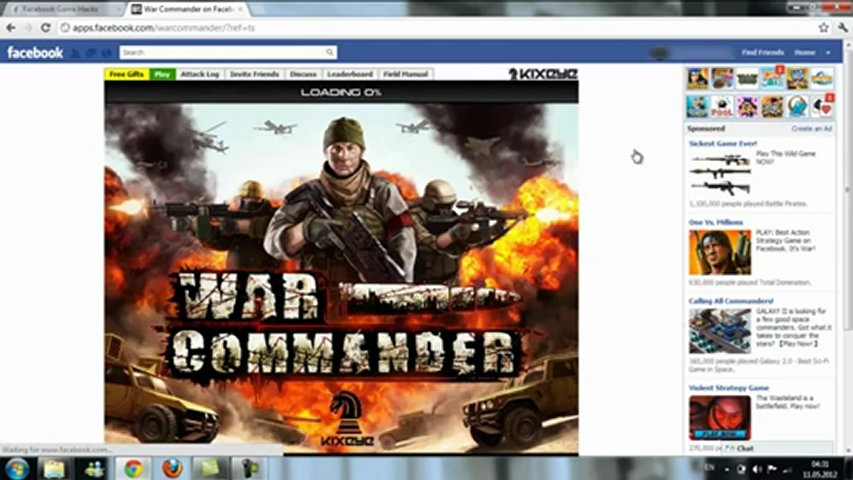 War Commander _ Hack Cheat _ FREE Download May 2012 Update | PopScreen