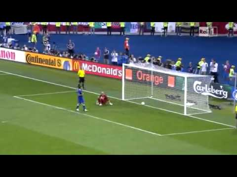 Rigore cucchiaio di Pirlo Italia - Inghilterra 2012 | PopScreen