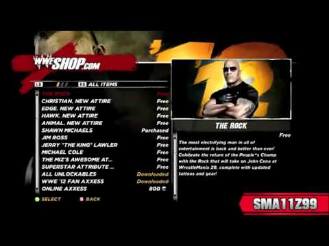 Wwe 12 How To Unlock The Rock