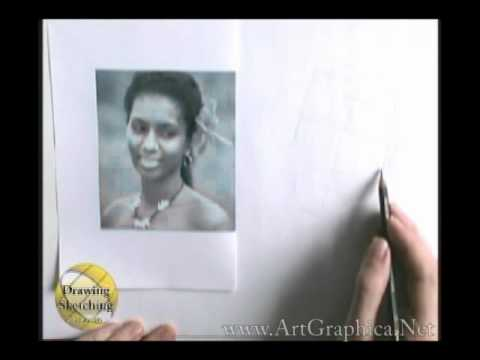 How to Draw People - Beginner Art Lesson, real time video (part 1 of 4)