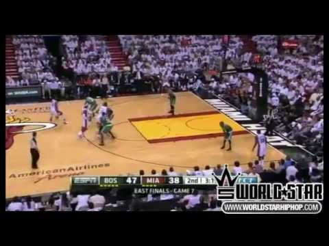 NBA Playoff Highlights Brandon Bass Dwayne Wade, Rondo Plays Lebron James Knocking Rondo | PopScreen