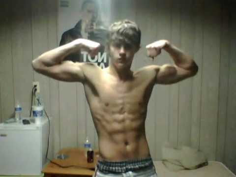 16 year old flexing, sexy 6 pack abs | PopScreen