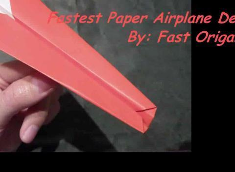 how to make a fast paper airplane videos