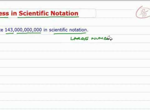 write the number in scientific notation 1 ma 15200 lesson 4 section p2 (part 2) and section p3 (part 1) i writing numbers in scientific notation a number is written in scientific notation when it is in.