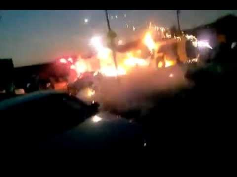 Funniest video ever! Bootleg Firework Fail Explosion caught on tape | PopScreen