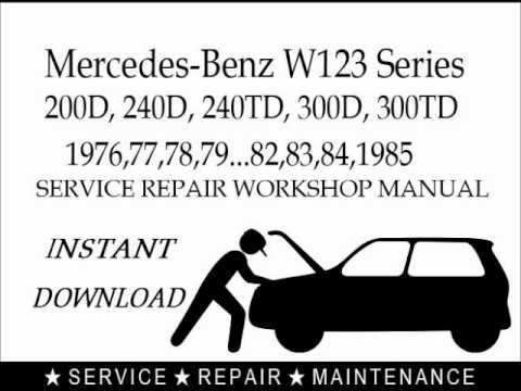mercedes 300e repair manual free download