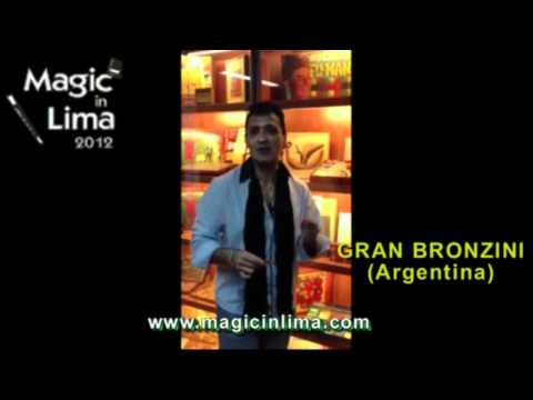 Gran Bronzini en Lima (Perú) - MAGIC IN LIMA 2012 - Congreso de Magia e Ilusionismo | PopScreen