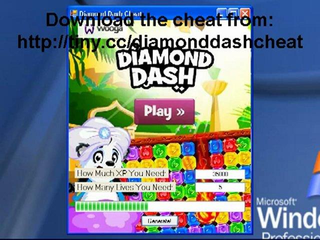 Diamond Dash Hack 2012 FREE Download [XP, Lives] | PopScreen