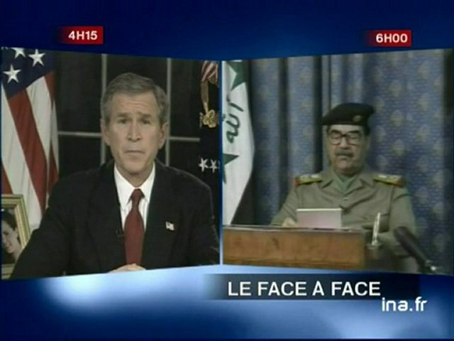 [Georges W.Bush et Saddam Hussein] | PopScreen