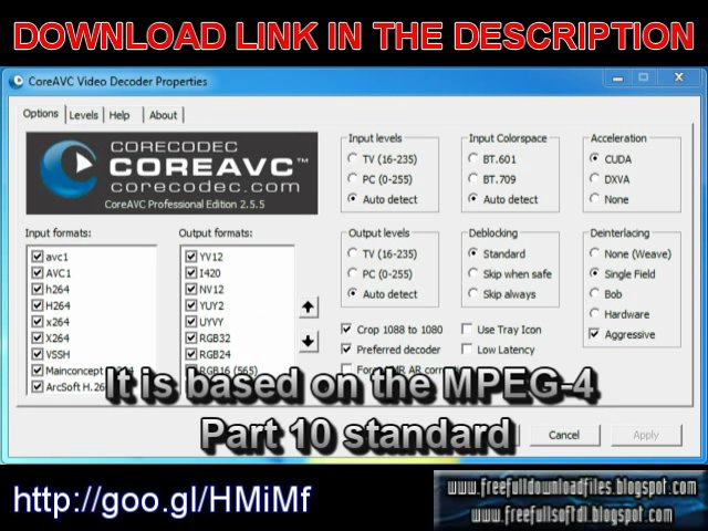 CoreAVC Professional Edition 2.5.5.0 free full download with serial key