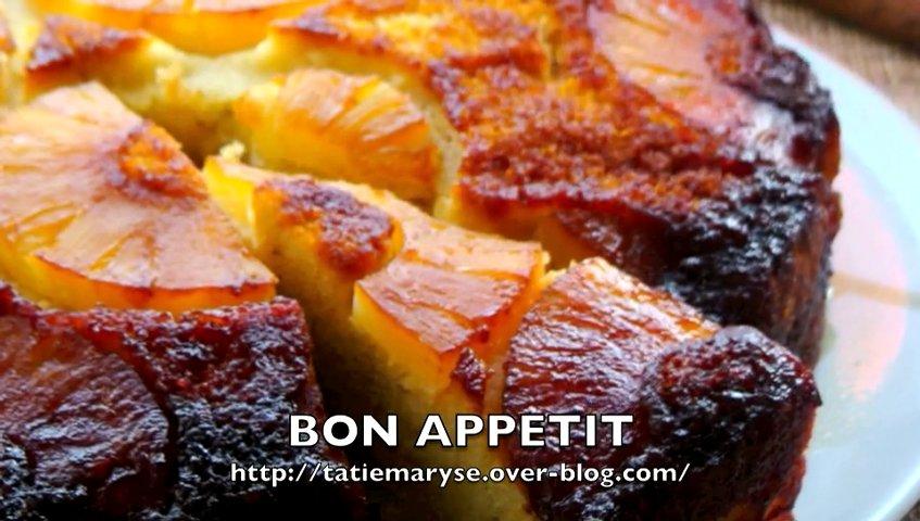 Le gâteau à l'ananas antillais de Tatie Maryse | PopScreen