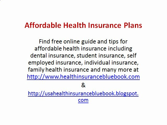Best health insurance options for self employed