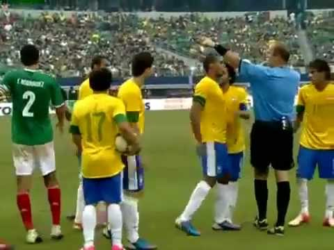 Pelea de Neymar vs Meza - Mexico vs Brasil 2-0 (Partido Amistoso 2012) | PopScreen