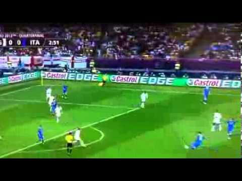 ITALY VS ENGLAND - BEAUTIFUL SHOT BY DE ROSSI HITS POST - 3 MINUTE | PopScreen