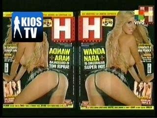 Wanda nara en revista hombre | PopScreen