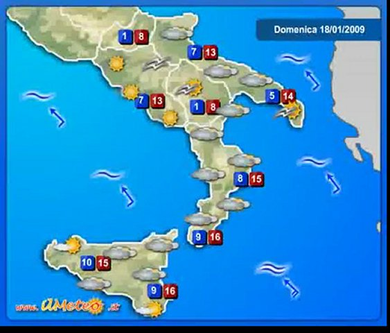 Meteo e previsioni Italia,meteo - www.ilmeteo.it 18/01/2009 | PopScreen